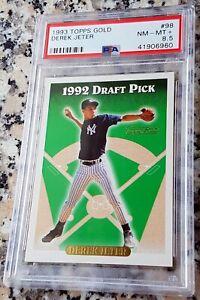 DEREK-JETER-1993-Topps-SP-GOLD-Rookie-Card-RC-PSA-8-5-RARE-NY-Yankees-HOF