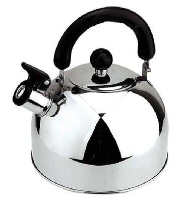 Wasserkessel Tee-Kessel 2L mit Pfeife rostfreiem Stahl Camping/Boot Wasserkocher