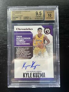 2017-18 Chronicles Kyle Kuzma Rookie Auto /149 Lakers BGS 9.5/10 GEM subgrades