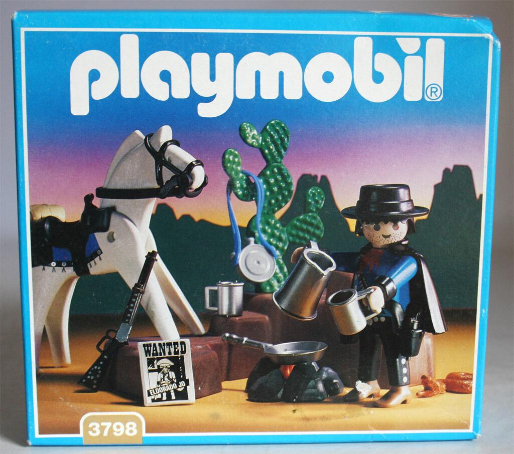 VERY RARE VINTAGE 1994 PLAYMOBIL 3798 WESTERN COWBOY BOUNTY HUNTER NEW SEALED