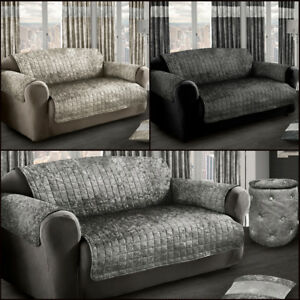 Crushed Velvet Sofa Protector Cover