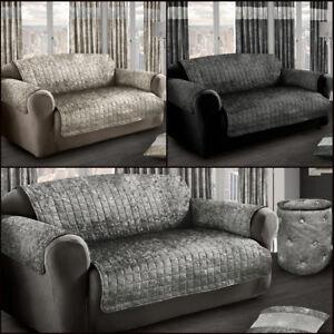 Fantastic Details About Luxury Crushed Velvet Sofa Protector Cover Plush Velvet Sofa Throw Silver Grey Uwap Interior Chair Design Uwaporg