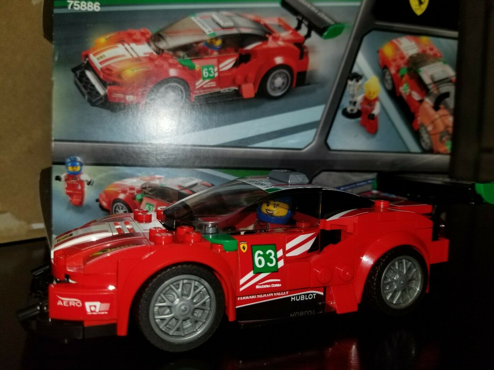 LEGO Speed Champions Champions Champions Assembled Ferrari 488 GT3 Scuderia Corsa 75886 Race Car d6e940