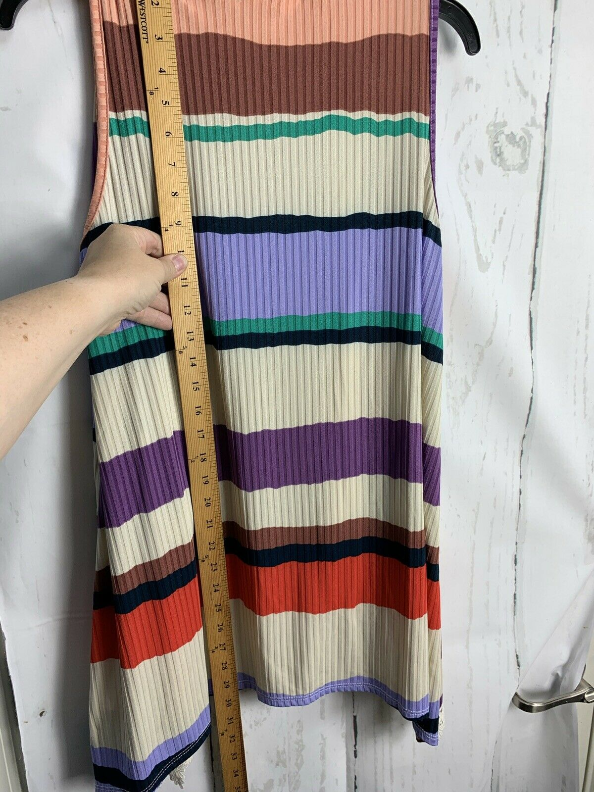 Hopely S Lilac Multicolor Stripe Lace Accent Ribb… - image 6