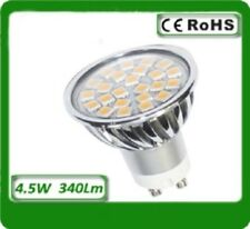 1x GU10 LED bulb with (24x5050SMD LEDs) 4.5W warm white 3000K non dimmable