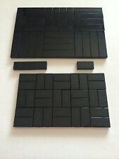 Lego 50 New Tiles Black Smooth Finishing Flat Tile 25 1x4 25 1x2 Bricks