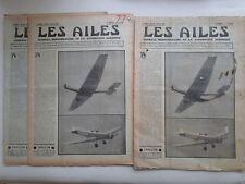 AILES 1936 774 SWALLOW ITALIE DEFENSE AERIENNE HINDENBURG PLANEUR SEEADLER POU