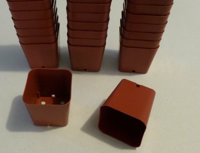 "1500 Qty  -2"" square Pots -Seed Starter Starting Durable Reusable Plastic 2 inch"