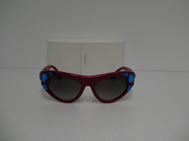 Prada New Sunglasses Womens Cat eye SPR 21Q Red SMN-0A7 SPR21Q 56mm