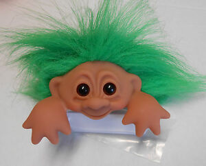 dam original good luck computer troll with name tag green hair new