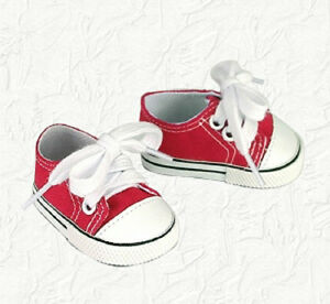 Doll-Clothes-Canvas-Sneakers-Red-Fit-the-18-inch-American-Girl