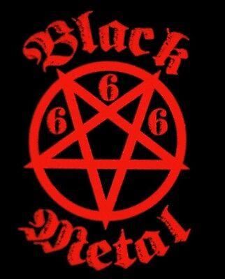 RED BLACK METAL 666 PENTAGRAM SHIRT LRG New exclusive