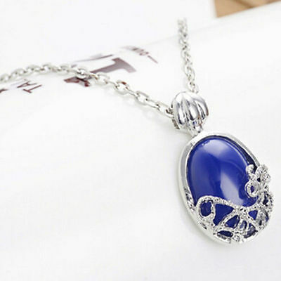 One Movie Vampire Diaries Katherine Anti-sunlight Lapis Lazuli Vintage Necklace
