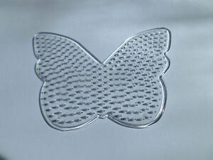 1 X Hot Fuse Bead Peg Board - 128mm X 98mm-papillon-afficher Le Titre D'origine