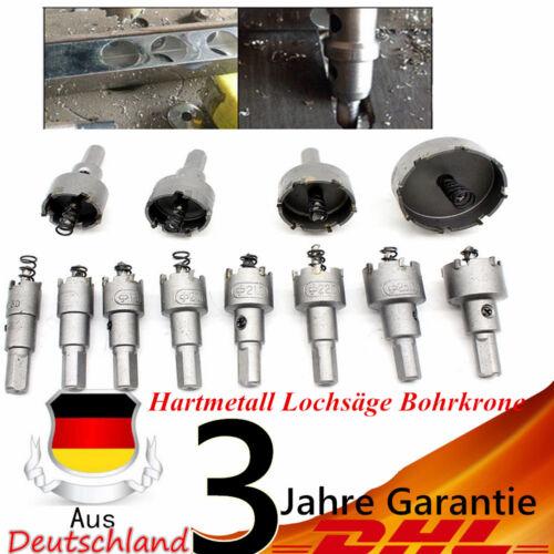 12x Set HSS Hartmetall Lochsäge Bohrkrone Kreisschneider 15-50mm Spiralbohrer