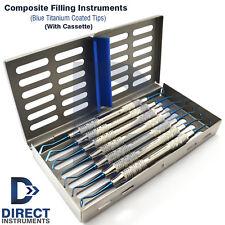 New Titanium Dental Composite Filling Instruments Restorative Spatula Cassette