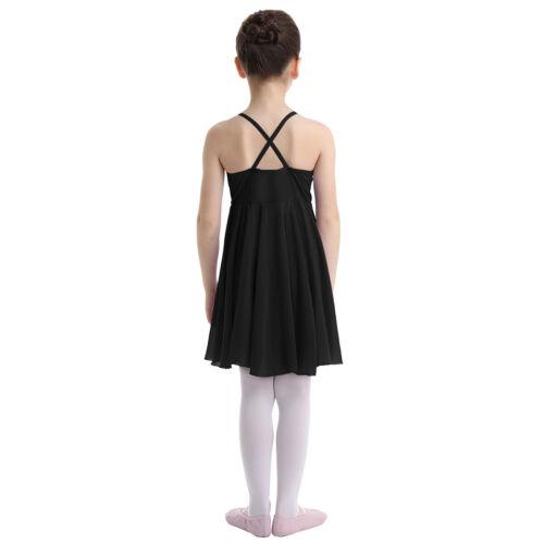 UK Girls Lyrical Ballet Dress Ballroom Leotard Dancewear Party Ballerina Costume