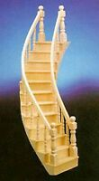 Dollhouse Miniature Right Curved Staircase For The Dollhouse