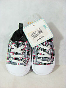 d28bd357521 Vitamins Baby Shoes Size 2 3-6 Months Zulily Black Red White Plaid ...
