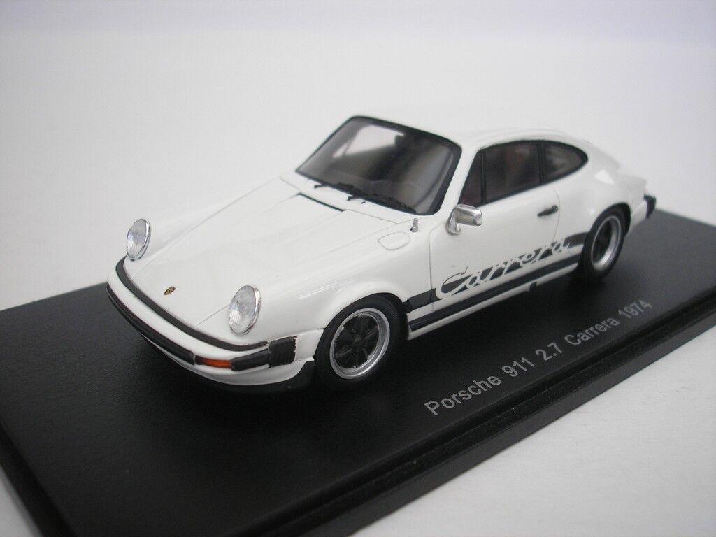 Porsche 911 2.7 Carrera 1974 Blanc 1 43 Spark S4997 Neuf