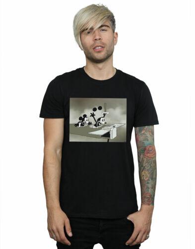 Disney Men/'s Mickey Mouse Crazy Pilot T-Shirt