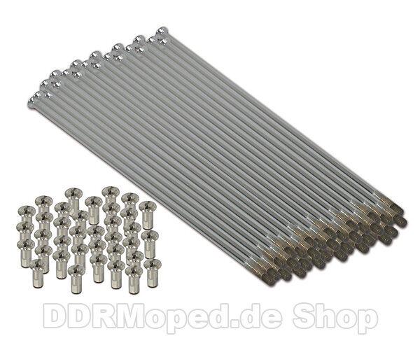 Satz Speichen - BMW R51/3 - R67/2/3 - R68 Vollnabe - 125mm M4 Edelstahl