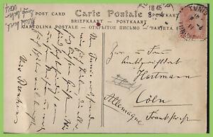 Tunisia-1911-postcard-to-Germany