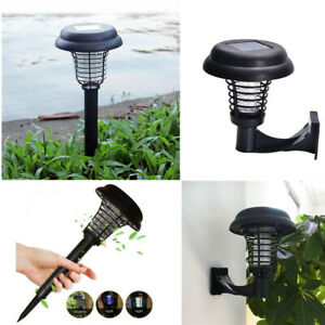 Solar Powered Mosquito Killer Wall Lamp Bug Zapper Fly Insects Repeller Outdoor