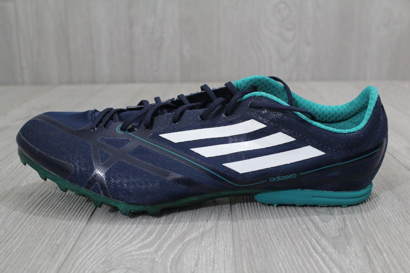 25 New Mens Adidas MD 2 bluee Mid Distance Track Spikes Sizes 5-12 AQ3094