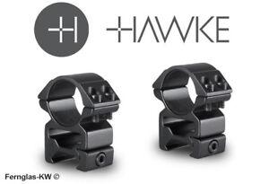 Hawke  mm ringmontage hoch für weaver schiene