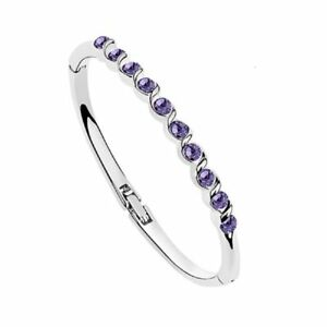 18K-White-Gold-Plated-made-with-Swarovski-Crystal-Elements-Bangle-Bracelet