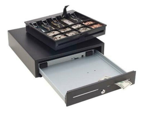 MMF VAL-U-LINE POS CASH DRAWER 16 X 16 BLACK 4 BILL 8 COIN MMF-VL1616E-04 NEW