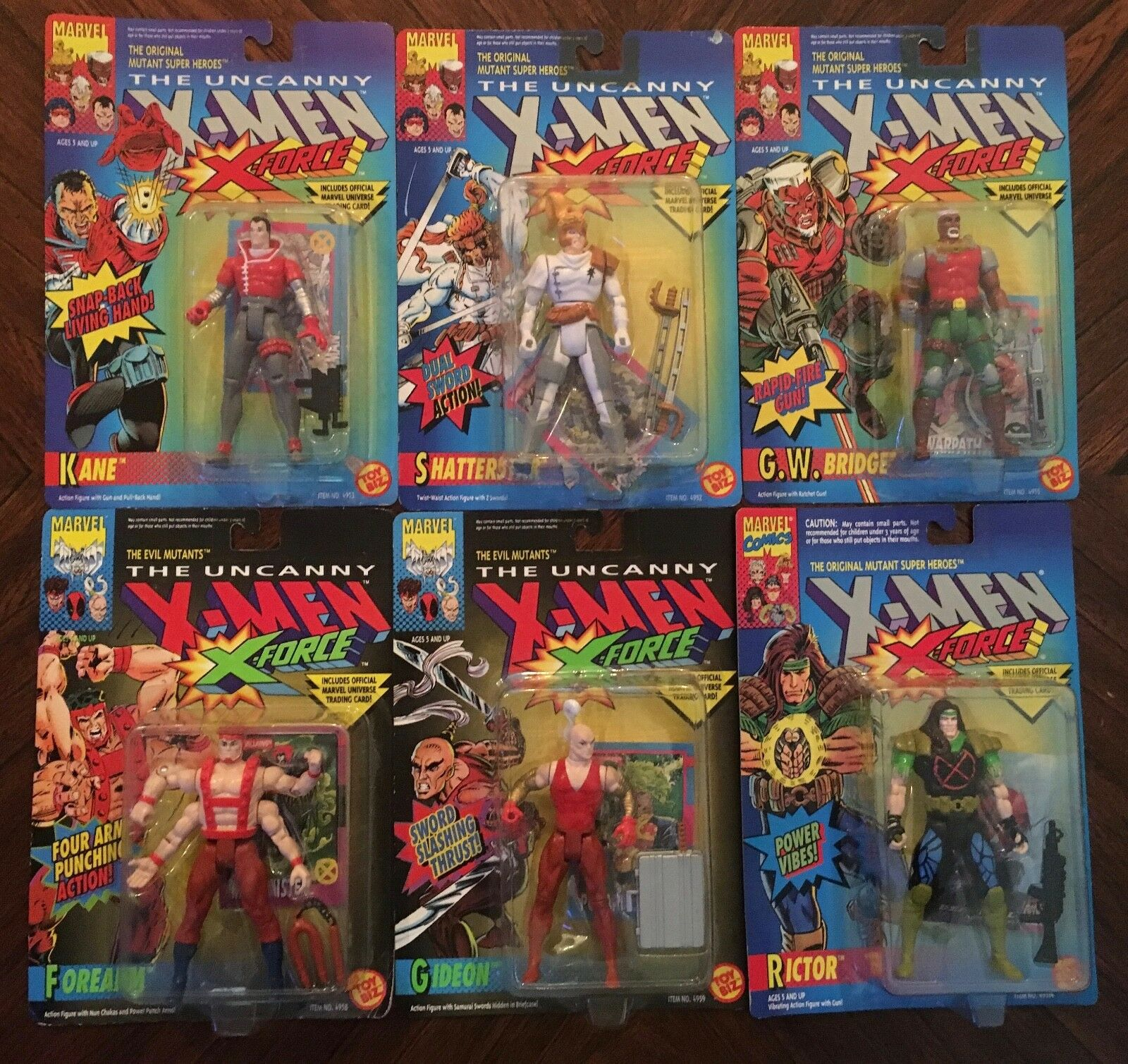 ToyBiz  X-Men \ X-Force Action Figure Collection (6 Figures)