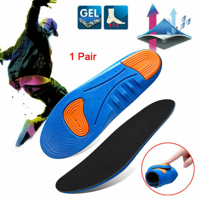Unisex Orthotic Arch Support Shoe Pad Sport Running Gel Insoles Insert Cushio MO