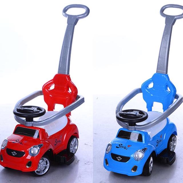 Coche Giro Correpasillos Bobby Vehiculo Infantil Andador 3 In 1  Rojo  y Azul