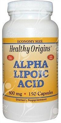 Healthy Origins, Alpha Liponsäure 600mgx150Kapseln - Versand erfolgt gl. Tag