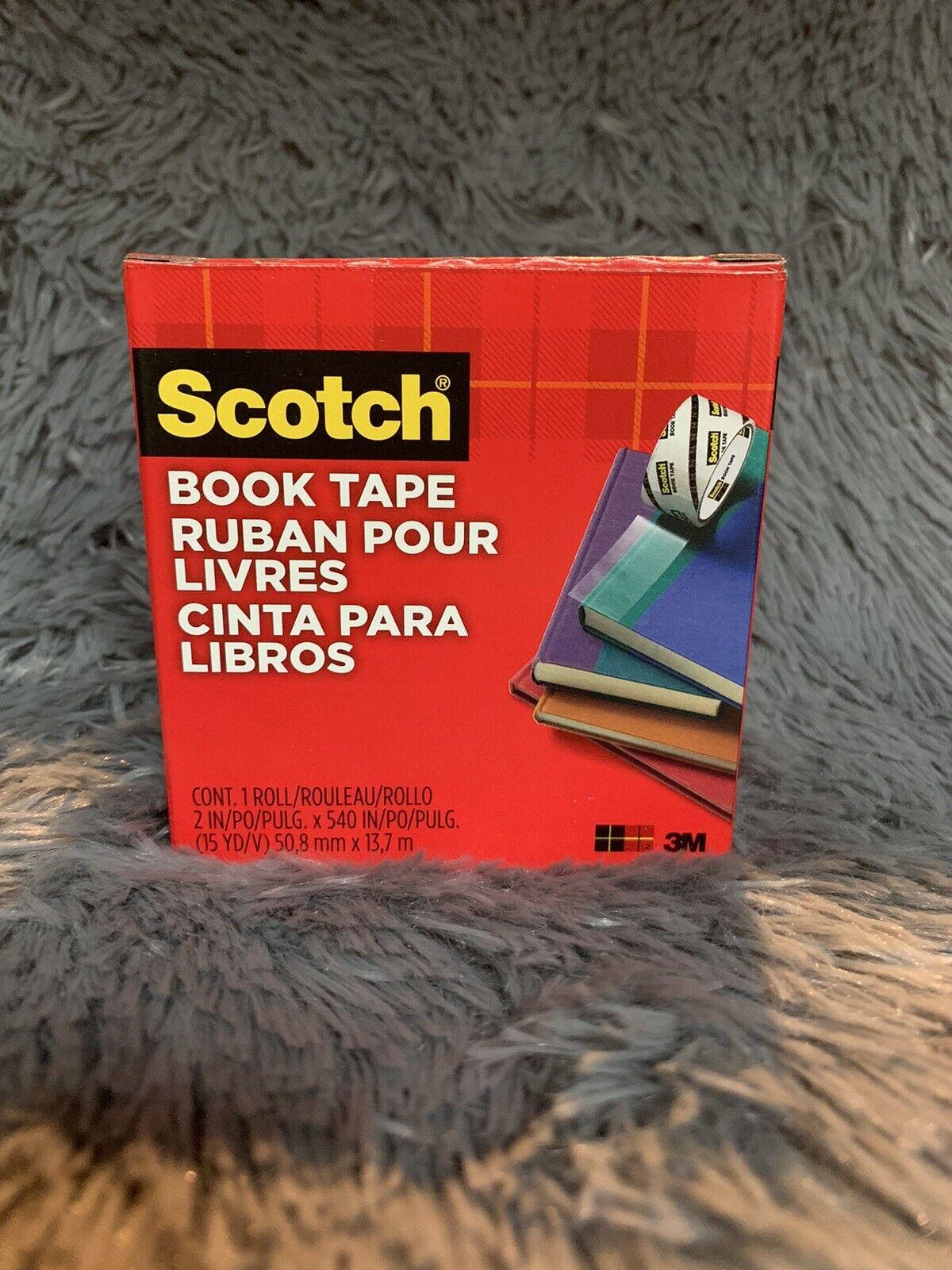 Clear 3M Scotch 845112 Book Repair Tape One 1-1//2-Inch x 15 yd Roll 3-Inch Core