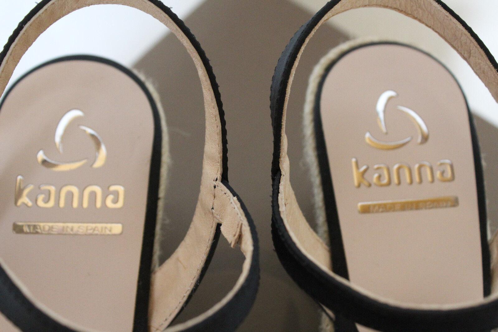 Kanna KV8083 Wedges,Damen Raso 95 Negro Sandalen Wedges,Damen KV8083 Gr.36,neu,LP 672a0d