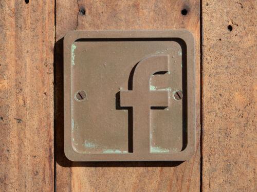 Bronze Resin wall plaque Etsy /& Stall advertising FACEBOOK Logo Door Sign