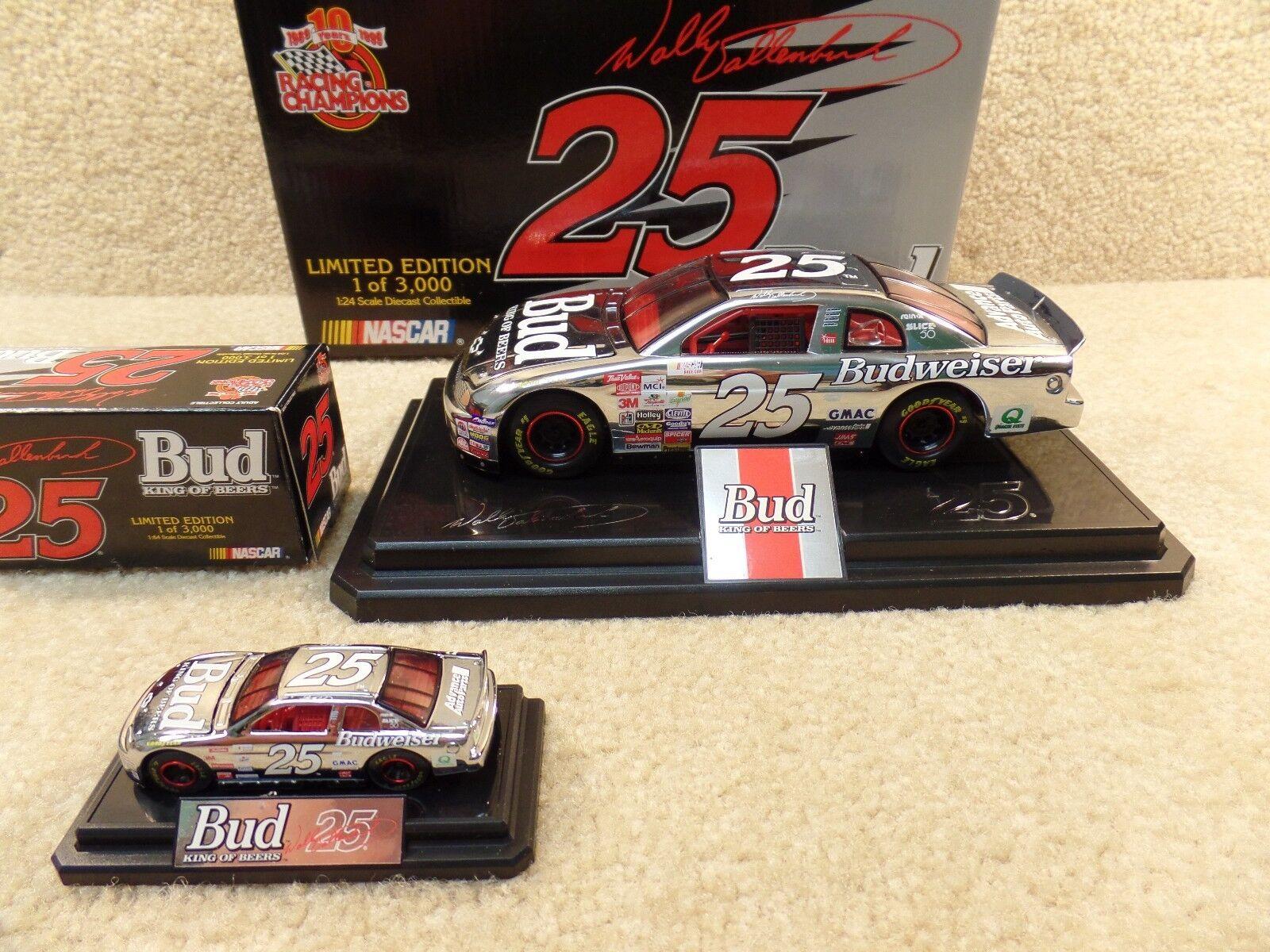 New 1999 Racing Champions 1 24 & 64 Wally Dallenbach Bud Budweiser Chrome Monte