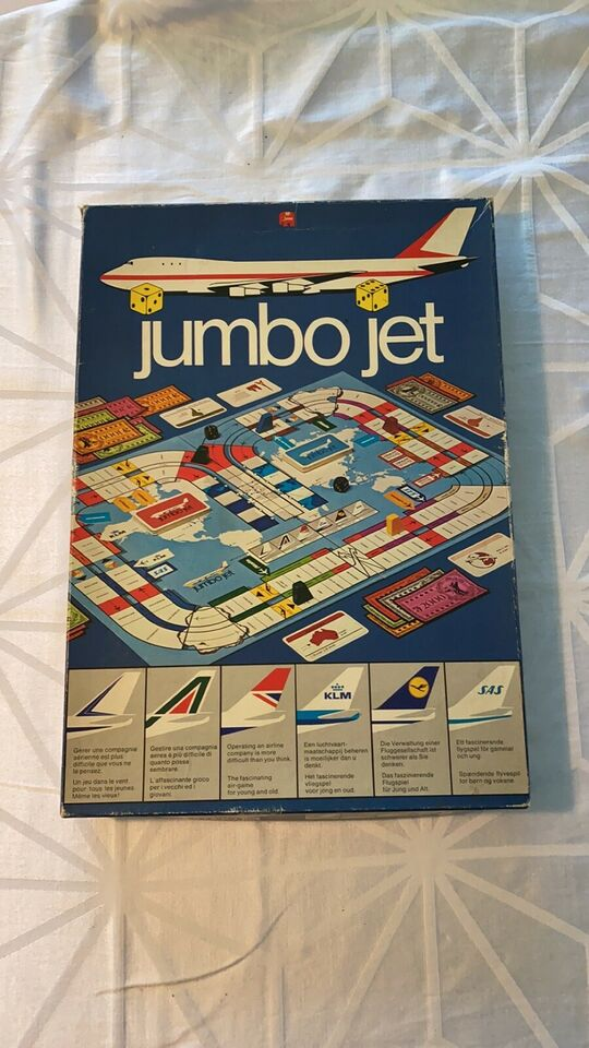 Jumbo jet, Familiespil , brætspil