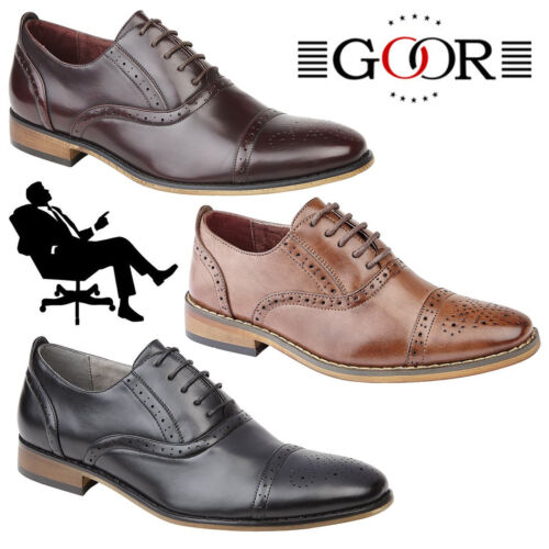 Goor /'Grantham/' Kids Oxford Brogues Boys Girls Smart Formal Back To School Shoes