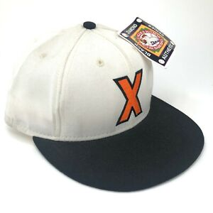 Vintage-Cuban-X-Giants-American-Needle-Fitted-Hat-Cap-Orange-X-White-Black-Brim