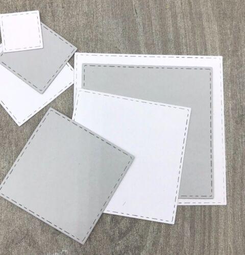 Stanzschablone// Cutting dies Quadrat SET stitched geeignet für Big Shot