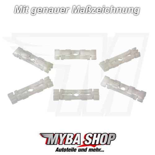 15X Clip di Fissaggio Copertura Universale Per VW Skoda Ø 9mm