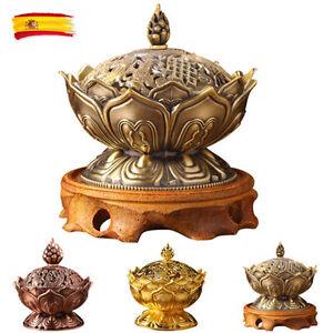Flor-De-Loto-Titular-Quemador-de-incienso-tibetano-para-un-ambiente-limpieza