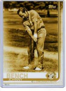 Johnny Bench 2019 Topps Update Variations 5x7 Gold #US182 /10 Reds