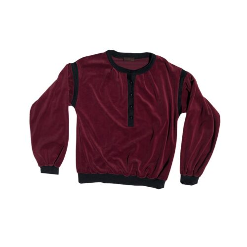 Vintage 70s Yves Saint Laurent Velour Sweater Swe… - image 1