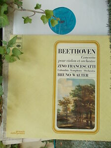 BEETHOVEN-Violin-concerto-gt-Francescatti-Walter-CBS-France-stereo-LP-NM