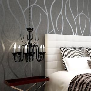 Détails sur European papier peint chambre design moderne salon mur rouleau  de papier Wallpapers- afficher le titre d\'origine